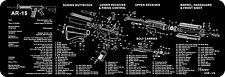 AR-15 M16 M4 Gun Cleaning Bench Mat Full Parts List View Schematic Non-Slip NEW