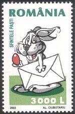 Romania 2003 Easter/Rabbit/Animals/Nature/Holidays/Animation 1v (n44504)