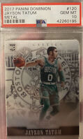 2017 Panini Dominion Metal 6/199 #120 Jayson Tatum Rookie RC PSA 10 GEM MINT