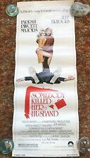 SOMEBODY KILLED MY HUSBAND ORIGINAL MOVIE POSTER 1978 HEAVY CARD STOCK