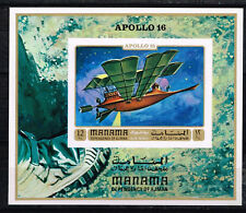 Manama Aviation History Souvenir Sheet 1970 MNH