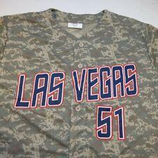 NEW LAS VEGAS LV 51's 51s MINOR LEAGUE BASEBALL JERSEY Sz Mens XL Camo Military