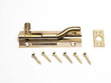 SWAN NECKED salle de bain porte gate bolt lock 75MM laiton pack de 10 + vis