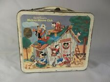 Vintage Metal Mickey Mouse Club Lunch Box