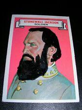 "1967 Topps ""Who Am I?"" card # 18 Stonewall Jackson"