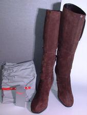 ♛ Prada edle Kalbs Velours High Heels Langschaft Stiefel Größe 37,5 ♛