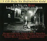 LA VIE EN ROSE,LA VIE EN BLANC ET NOIR - JAQUES BREL, EDITH PIAF 5 CD NEU
