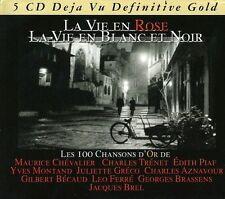 La vie en rose, la vie en blanc et noir-JAQUES BREL, edith piaf 5 CD NEUF