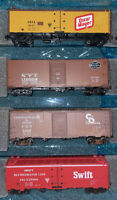 HO Scale Athearn 40' Billboard Advertising Reefer Car Train Cargo LOT 4 Box 10