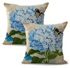 US Seller- set of 2 hydrangea flower replacement chair cushions indoor