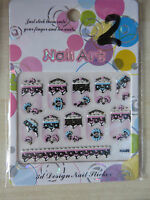 Nail Art Transfer Stickers Decal Tips Manicure DIY Nail Decoration - FREEPOST