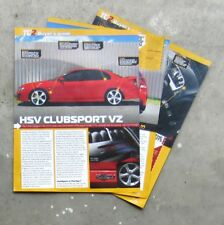 HOLDEN VZ COMMODORE HSV CLUBSPORT Auto Magazine Review Test Article CHEVROLET