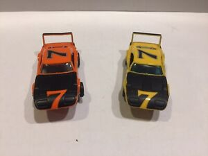 2 car lot Aurora AFX slot cars DODGE CHARGER DAYTONA with Running Chassis