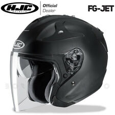 CASCO IN FIBRA MOTO / SCOOTER HJC FG-JET FGJET RUBBERTONE BLACK NERO - OPACO