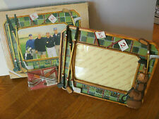 """GOLF FRAME, LEGENDS OF THE GAME, HOLDS 3 3/4"""" X 5 3/4"""" PIC & MINI GOLF CLUBS, VG"""
