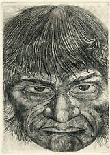Oleg Yakhnin, Original Art Print Etching Ex libris Graphic. McMurphy.