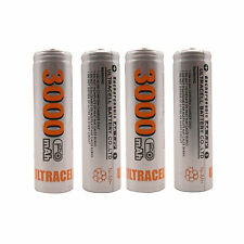 4 pcs AA 3000mAh Ni-MH 1.2V Rechargeable Battery Cell Toy UltraCell US Stock