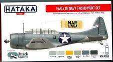 Hataka Hobby Paints EARLY US NAVY & USMC CAMOUFLAGE 1919-1942 Acrylic Paint Set