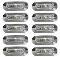 10x LED BLANCA LUZ DE Marcador Lateral 24v para camión Bus VOLVO DAF IVECO