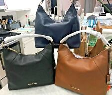 086792dc30 Michael Kors Karson Top Zip Pebbled Leather Lg. Shoulder Hobo Bag  378 3  Colors