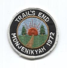 VINTAGE - 1972 Monjenikyah Trail's End Patch