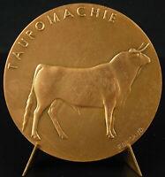 Medal Bullfighting Bullfight Toros Bulls Bullfight Terreros c1970 Medal