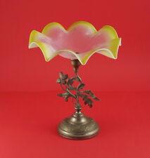 Jugendstil  Tafelaufsatz / Centerpiece um  1900 -  Glas / Metall  (# 5847)