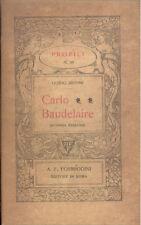Guido Muoni: Carlo Baudelaire  Profili  Formiggini 1927