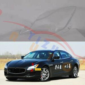 Left / Driving Side Clear Headlight Cover+Glue For Maserati Quattroporte 2013-17