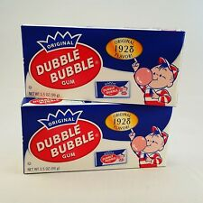 Original Dubble Bubble Chewing Gum with Comic Wrapper - 2 x 3.5 oz Theater Boxes