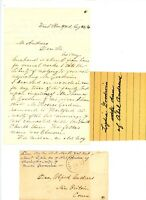 1868 Handwritten Letter Andrews genealogy New Hartford CT envelope Rev MN Morris