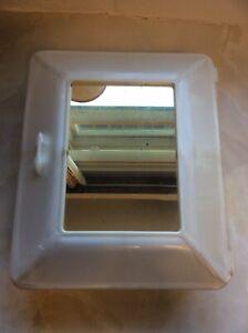 Vintage Retro Kitsch White Plastic Bathroom Medicine Cabinet 1950s 1960s