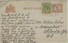 NETHERLANDS 1919 POSTCARD TO ATLANTA GEORGIA, USA