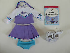 AMERICAN GIRL DOLLl CHEERLEADING / CHEER / GEAR OUTFIT WITH SHOES SOCKS BOOK