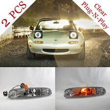 NA MIATA Clear Front Bumper Lights (Pair) Mazda MX-5 MX5 Plug N' Play NEW