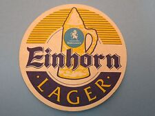 Beer Brewery Coaster ~<>~ Frederic ROBINSON'S Einhorn Lager ~ Stockport, ENGLAND