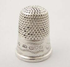 Antique Hallmarked Sterling Silver Sewing Thimble 9 Silversmith Charles Horner