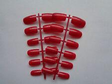 24  SHORT  EUROPEAN   FULL COVER  RUBY RED   FALSE NAILS