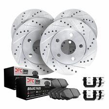 2103 Platinum Hart CERAMIC Pads *DRILL /& SLOT* Brake Rotors FRONT+REAR KIT