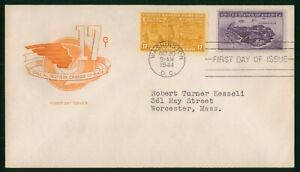 MayfairStamps US FDC Unsealed 1944 Special Delivery Change of Rate 17 Cents Firs