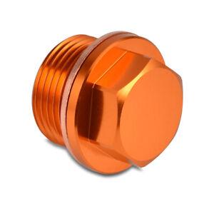 Orange Oil Drain Sump Plug Washer Fit KTM 990 LC8 Adventure SMR SMT Super Duke