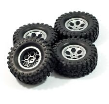 HSP RGT RC 1/10 ROCK CRAWLER Pre mounted 2.2 grey wheels & tires 12mm hex (4)