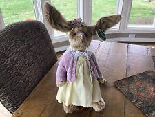 "The Bearington Collection Madeline Bunny Rabbit 13"" Tall Euc"