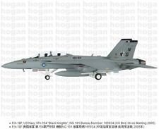"Hogan Wings 6146, F/A-18F, US Navy, VFA-154 ""Black Knights"", NG 101 Bureau Numbe"
