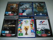 Lord Of The Rings-Black-Conflict-2006 Fifa Six PS2 Games Bulk Lot