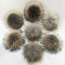 Faux Raccoon Fake Fur Hair Huge Ball Fluffy Pompom Pendant For Hat Bag Shoses