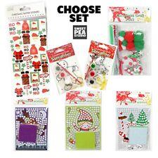 Kids Christmas DIY Craft Sets - Stickers Suncatchers Pom Poms Santa