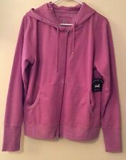 NEW Central Park Pink Fuscia Women Ladies Sweatshirt Hoodie Light Jacket
