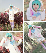 Women's Ladies Anime Hatsune Miku Rabbit Ears Set Cosplay Costume Pajamas Outfit