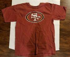 NFL Team Apparel San Francisco 49rs Football Short Sleeve Logo Red T Shirt Med